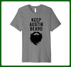 Mens Keep Austin Beard - Funny Hipster Ironic Shirt - Texas Medium Slate - Animal shirts (*Amazon Partner-Link)
