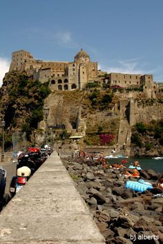 Castello Aragonese - Home of the Ischia Film Festival- Ischia, Napoli  Book here: http://www.aicgroup.biz/booking/index.php?country=Italy&city_code=ISH&city=Ischia_-_Napoli