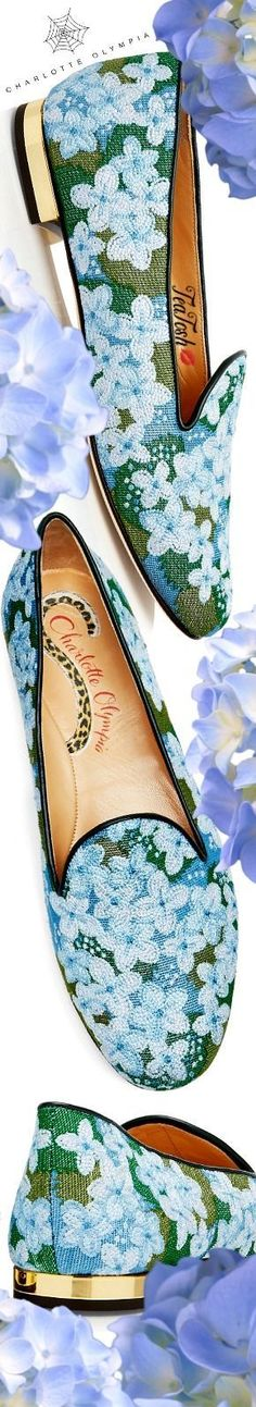 ❈Téa Tosh❈ Charlotte Olympia, HYDRANGEA #charlotteolympia #teatosh Canada Holiday, Head Over Heels, Old Hollywood Glamour, Floral Fashion, Cool Tones, Luxury Shoes, Charlotte Olympia, Beautiful Shoes, Bellisima