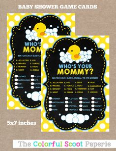 INSTANT DOWNLOAD Rubber Duck Baby Shower Baby by TheColorfulScoot