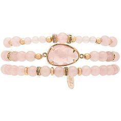 Ettika Beaded Bracelet Set (125 BRL) ❤ liked on Polyvore featuring jewelry, bracelets, accessories, pulseiras, beading jewelry, beads jewellery, ettika jewelry, ettika and beaded bangles