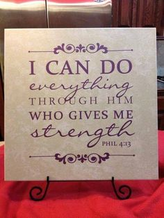 I can do all things through Christ. #inspirational #Philippians #Phil413 #uppercaseliving