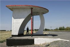 The Soviet Roadside Bus-stop  Departure from the common and boring , Next stop the wild and crazy