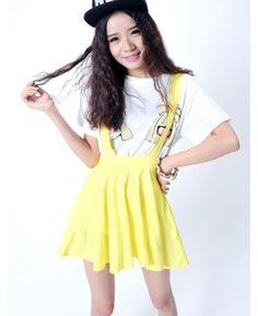 New Dress Pastel Suspender Skirt Ice Cream Candy Stripe Skirt 4 Color 3 Size | eBay