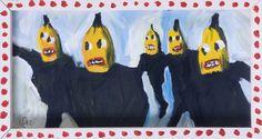 Macanudismo-tela Bananas acrilico
