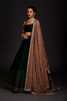 Silk lehenga - Photo By Vvani By Vani Vats Bridal Wear Indian Gowns Dresses, Indian Fashion Dresses, Dress Indian Style, Indian Designer Outfits, Ethnic Fashion, Bridal Dresses, Trendy Fashion, Style Fashion, Lehenga Choli Designs