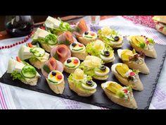 (103) Szybkie, sycące i pożywne kanapki - jajko, oliwki, ser camembert - YouTube Easy Canapes, Queso Camembert, Appetizer Recipes, Appetizers, Olives, Salad Sandwich, Afternoon Tea, Sushi, Cake Recipes