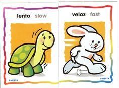 Heel veel kaarten over het tegenovergestelde / Vocabulario en Inglés. Fichas de contrarios