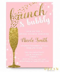 43 best cheap bridal shower invitation images on pinterest wedding brunch and bubbly bridal shower invitation filmwisefo