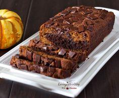 Paleo Marble Pumpkin Chocolate Bread (gluten, grain, dairy free)