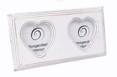 Pozioma ramka z dwoma sercami lovelypassion.pl #shabbychic #vintage #country #shop #decor #home #dom #dekoracja #inspiration #beautiful #photo #frame