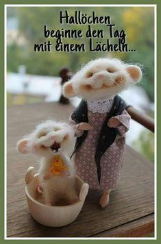 Buy Mouse washing the sun smiles) - white, felt mouse, wool - Pin Coffee Needle Felted Animals, Felt Animals, Cute Baby Animals, Funny Animals, Needle Felting Tutorials, Felt Mouse, Cute Mouse, Felt Dolls, Crochet Dolls