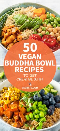 recipes healthy baking 50 Vegan Buddha Bowl Recipes to Get Creative With Whether you like being creative in the kitchen or have leftovers and produce to use, these 50 exquisite vegan buddha bowl recipes are exactly what you need! Vegan Bowl Recipes, Healthy Crockpot Recipes, Vegetarian Recipes, Vegetarian Burrito, Vegan Recipes Plant Based, Healthy Dishes, Egg Recipes, Recipes Dinner, Potato Recipes