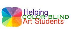 Helping Color Blind Art Students - The Art of Education University Middle School Art, Art School, Special Needs Art, Blind Art, Art Classroom Management, Teaching Art, Teaching Tools, Art Education, Special Education