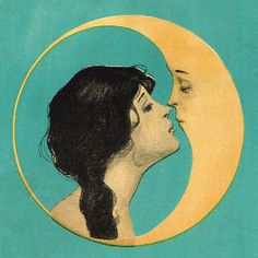"vintagegal:  ""Illustration from the cover of Dear Old Dixie Moon songbook c. 1920  """
