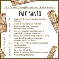 10 Medical Benefits of Palo Santo. Smudging Prayer, Sage Smudging, Magic Herbs, Herbal Magic, Healing Herbs, Natural Healing, Natural Cures, Wiccan Spell Book, Spiritual Cleansing