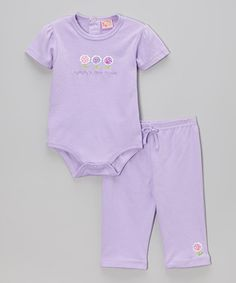Take a look at this Lavender 'Mommy's Little Flower' Bodysuit & Pants - Infant on zulily today!