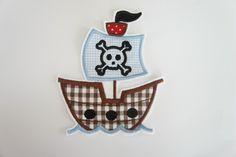 ♥ Piratenschiff Applikation XL