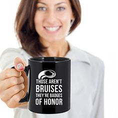 Amazon.com: Rugby Coffee Mug - Those aren't bruises they're badges of honor - Rugby Coffee Cup - Funny Rugby Gifts - 11oz Black: Kitchen & Dining
