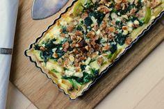 Tærte med spinat, svampe og feta – Suitfood
