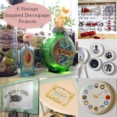 6 vintage inspired decoupage projects! | Mod Podge Rocks