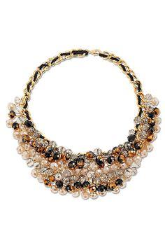 GOLD MULTI Multicolor bead necklace from VENUS