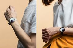 minimalist watch with ombre face
