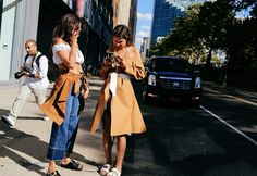 Juliana Salazar in Azzedine Alaïa top and vintage jacket and Céline shoes and Kimberley Jenneskens