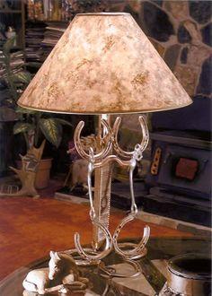 Lamp - horseshoes & bridle