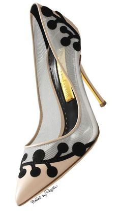 Beige and Black heels