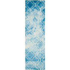 Dip Dye Blue/Ivory 2 ft. 3 in. x 8 ft. Runner