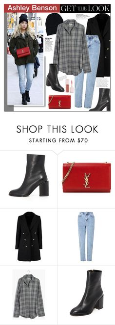 """Ashley Benson"" by mery90 ❤ liked on Polyvore featuring Dear Frances, Yves Saint Laurent, Boohoo, Miss Selfridge, Madewell, Puma, GetTheLook, StreetStyle and CelebrityStyle"