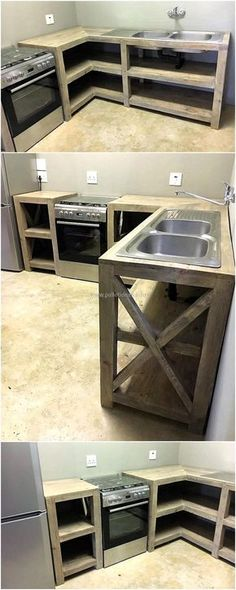 recycled wood pallet kitchen idea