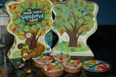 The Sneaky Snacky Squirrel - my FAV preschool game! Great for fine motor skills
