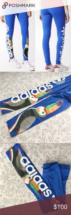 Adidas x The Farm blue tropical toucan leggings Adidas originals x The Farm  toucan blue leggings 73c17e5439e69