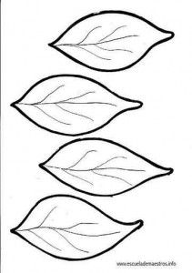 Leaf Coloring Pages Leaf coloring page, Leaf template