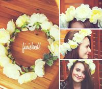 Cute fake flower crown, great for summer solstice celebrations