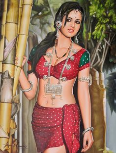 Rustic Beauty with Traditional Jewelry. Anup Gomay