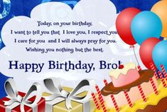 In this post, we have shared special birthday wishes for brother. Wish your elder or younger brother with this unique birthday wishes, quotes, messages. Birthday Greetings For Kids, Happy Birthday Cards Images, Unique Birthday Wishes, Happy Birthday Ecard, Birthday Wishes For Brother, Birthday Present For Boyfriend, Cool Birthday Cards, Free Birthday, Birthday Kids