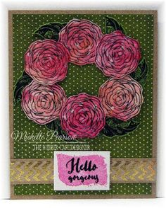 Hello Gorgeous by @mshellp for @therubbercafe using @bobunny #card #stamping #creativecafeKOTM