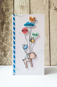 Lawn Fawn - Hello Sunshine, Into the Woods _ Adorable and clever card by Keren _ Fly High! via Flickr - Photo Sharing!
