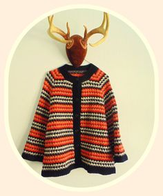 1970s Thick Knitted MultiColored Bell Shaped by ThreadyJenny, $30.00