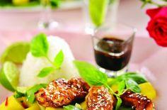 Sesamkylling med mangosalsa og asiatisk saus