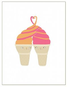 Twist Cone // greeting card by laurageorge on Etsy, $4.00