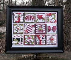 Holiday Collage Christmas Shadow Boxes, Christmas Collage, Christmas Frames, Stampin Up Christmas, Christmas Cards To Make, Christmas Decor, Christmas Ideas, Christmas Ornaments, Christmas Projects