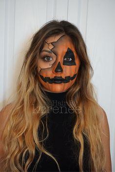 Pumpkin jack o lantern Halloween makeup