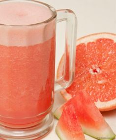 """A Girl's Best Friend"" Grapefruit Watermelon Detox Juice - 15 Super-Healthy Drinks to Detox Yourself 