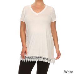 Women's Plus Size Lace Top