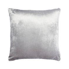 Home Collection Silver velvet cushion- at Debenhams.com