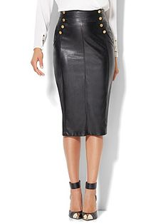 Pencil Dress Outfit, Pencil Skirt Outfits, Pencil Skirts, Faux Leather Pencil Skirt, Black Leather Skirts, Edgy Fall Outfits, Cute Skirts, Faux Leather Jackets, Leather Fashion